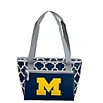 University of Michigan Quatrefoil Cooler Tote in Navy