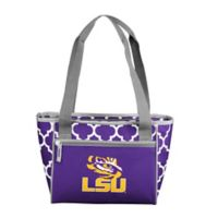 Louisiana State University Quatrefoil Cooler Tote in Purple