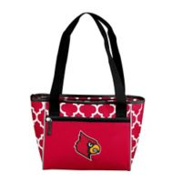 University of Louisville Quatrefoil Cooler Tote in Red