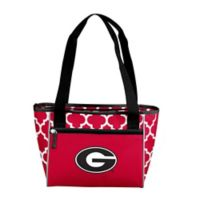 University of Georgia Quatrefoil Cooler Tote in Red