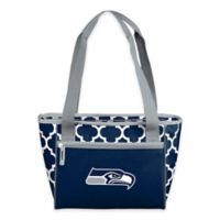 NFL Seattle Seahawks Quatrefoil Cooler Tote in Navy