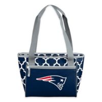 NFL New England Patriots Quatrefoil Cooler Tote in Navy