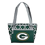 NFL Green Bay Packers Quatrefoil Cooler Tote in Hunter Green