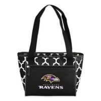 NFL Baltimore Ravens Quatrefoil Cooler Tote in Black