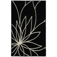 Garland Grand Floral 2-Foot 6-Inch x 3-Foot 10-Inch Accent Rug in Indigo/Ivory