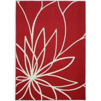 Garland Grand Floral 5-Foot x 7-Foot Area Rug in Coral/Ivory