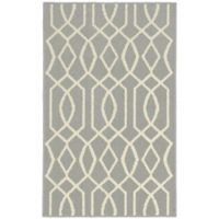 Garland Fretwork 2-Foot 6-Inch x 3-Foot 10-Inch Accent Rug in Silver/Ivory