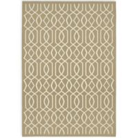 Garland Fretwork 5-Foot x 7-Foot Area Rug in Tan/Ivory