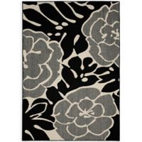 Garland Valencia 5-Foot x 7-Foot Area Rug in Black/Ivory