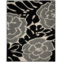 Garland Valencia 8-Foot x 10-Foot Area Rug in Black/Ivory