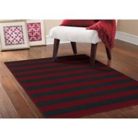 Garland Rugs Rugby 5-Foot x 7-Foot 5-Inch Area Rug in Burgundy/Navy