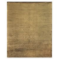 Exquisite Rugs Dove Embossed 6-Foot x 9-Foot Area Rug in Khaki