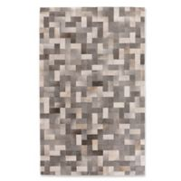 Exquisite Rugs Rectangles Cowhide 5-Foot x 8-Foot Area Rug in Silver