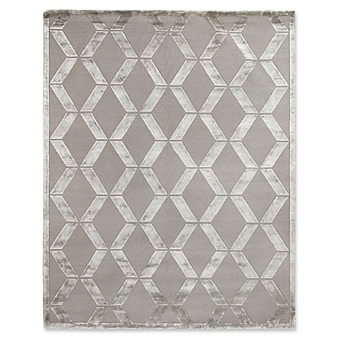 image of Exquisite Rugs Metro Velvet Area Rug in Silver