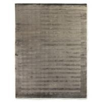 Exquisite Rugs Wide Stripe 6-Foot x 9-Foot Area Rug in Dark Grey