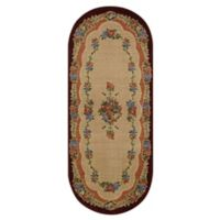 Brumlow Mills Heartwood 1-Foot 10-Inch x 5-Foot Oval Accent Rug in Burgundy
