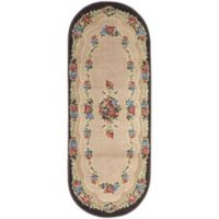 Brumlow Mills Heartwood 1-Foot 10-Inch x 5-Foot Oval Accent Rug in Chocolate
