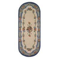 Brumlow Mills Heartwood 1-Foot 10-Inch x 5-Foot Oval Accent Rug in Nantucket Blue
