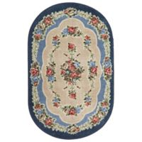 Brumlow Mills Heartwood 2-Foot 6-Inch x 3-Foot 10-Inch Oval Accent Rug in Nantucket Blue