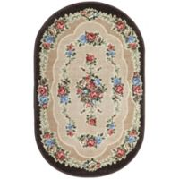 Brumlow Mills Heartwood 3-Foot 3-Inch x 5-Foot 4-Inch Oval Accent Rug in Chocolate
