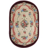 Brumlow Mills Heartwood 3-Foot 3-Inch x 5-Foot 4-Inch Oval Accent Rug in Burgundy