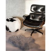 Luxe Mongolian Faux Fur Sheepskin 2-Foot x 3-Foot Accent Rug in Sage