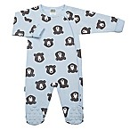Kushies® Size 1M Bear Footie in Blue