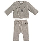 Elegant Baby® Size 0-6M 2-Piece Organic Cotton Jacket and Pant Set in Grey