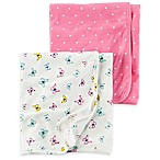 carter's® 2-Pack Butterfly/Polka Dot Swaddle Blankets