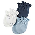 carter's® Size 0-3M 3-Pack Mittens in Blue