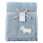 carter's® Dog Plush Blanket in Blue