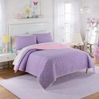 Waverly Kids Framework Reversible Full Quilt Set in Purple