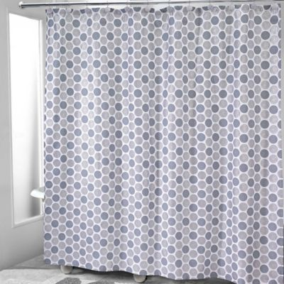 Avanti Dotted Circle Shower Curtain In White