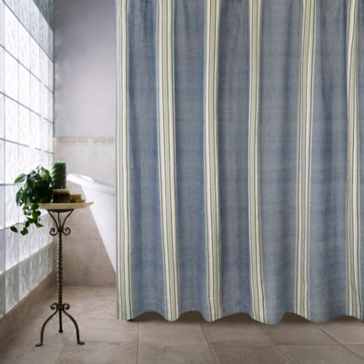 Park B. Smith Metro Farmhouse Chambray Shower Curtain in Denim - Buy Denim Shower Curtains From Bed Bath & Beyond