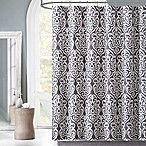 Victoria Cane Shower Curtain in Grey