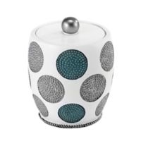 Avanti Dotted Circle Jar in White