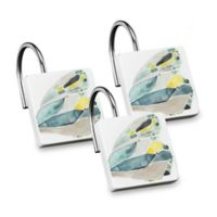 Shell Rummel Butterfly Shower Curtain Hooks in Yellow (Set of 12)