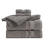 Martex Supima Luxe Bath Towel Collection in Grey (Set of 6)