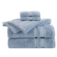 Martex Supima Luxe Bath Towel Collection in Light Blue (Set of 6)
