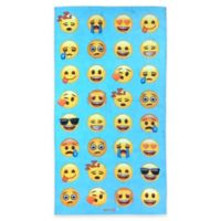 Emoji Beach Towel in Blue