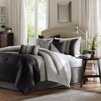 Madison Park Amherst 7-Piece Full Comforter Set in Black