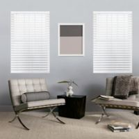 Glowe by The Shade Store® Cordless 36-Inch x 64-Inch Faux Wood Blinds in Pure White