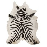Natural Rugs Togo Cowhide 6-Foot x 7-Foot Area Rug in Zebra Black/Off-White