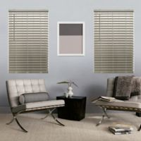 Glowe by The Shade Store® Cordless 23-Inch x 64-Inch Faux Wood Blinds in Driftwood