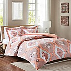 Intelligent Design Claudine Reversible Twin/Twin XL Comforter Set in Coral