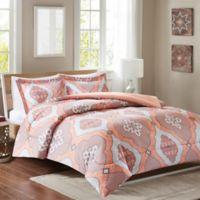 Intelligent Design Claudine Reversible Twin/Twin XL Comforter Set in Coral