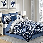 Indigo 8-Piece Queen Comforter Set in Blue