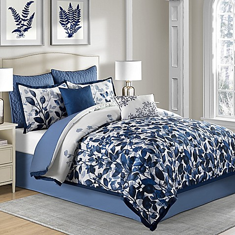 Indigo comforter set bed bath beyond - Bed bath and beyond bedroom furniture ...