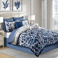 Indigo 6-Piece Twin Comforter Set in Blue
