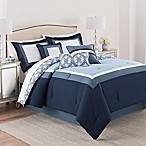 Martex Luxury Carsten 7-Piece Queen Comforter Set in Blue